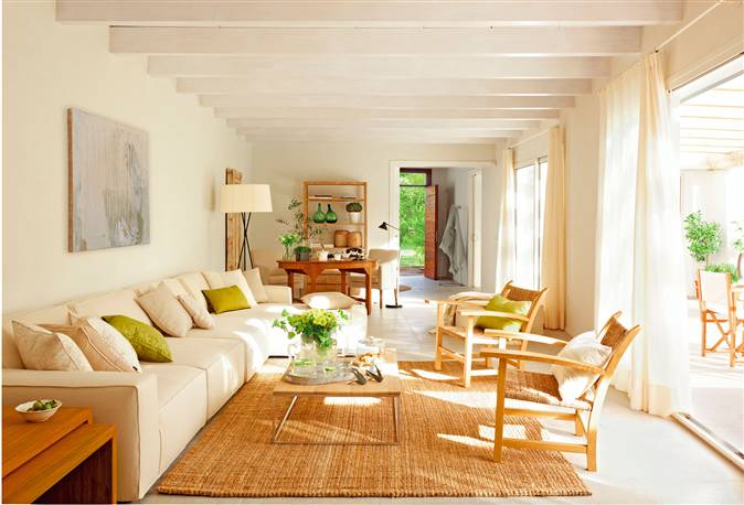 Ideas y detalles para renovar la casa en verano - Alfombra para salon ...