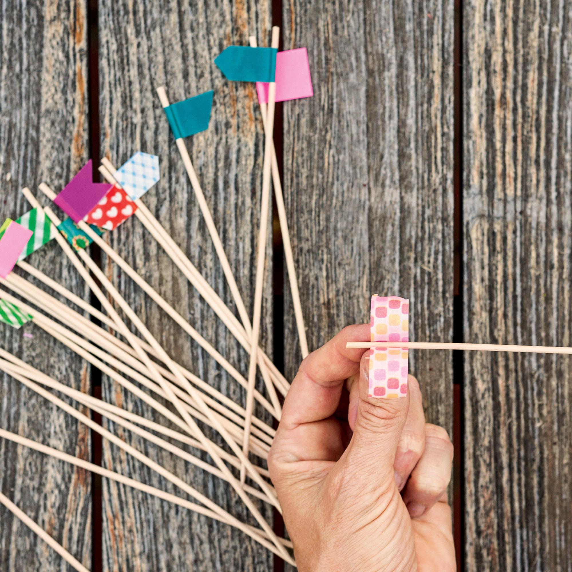 hacer banderines de papel Cmo Hacer Mini Banderines Y Mini Gurinaldas Con Washi Tape