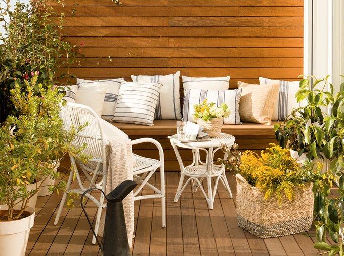 Porches y terrazas naturalmente bonitos - Cojines para terrazas ...