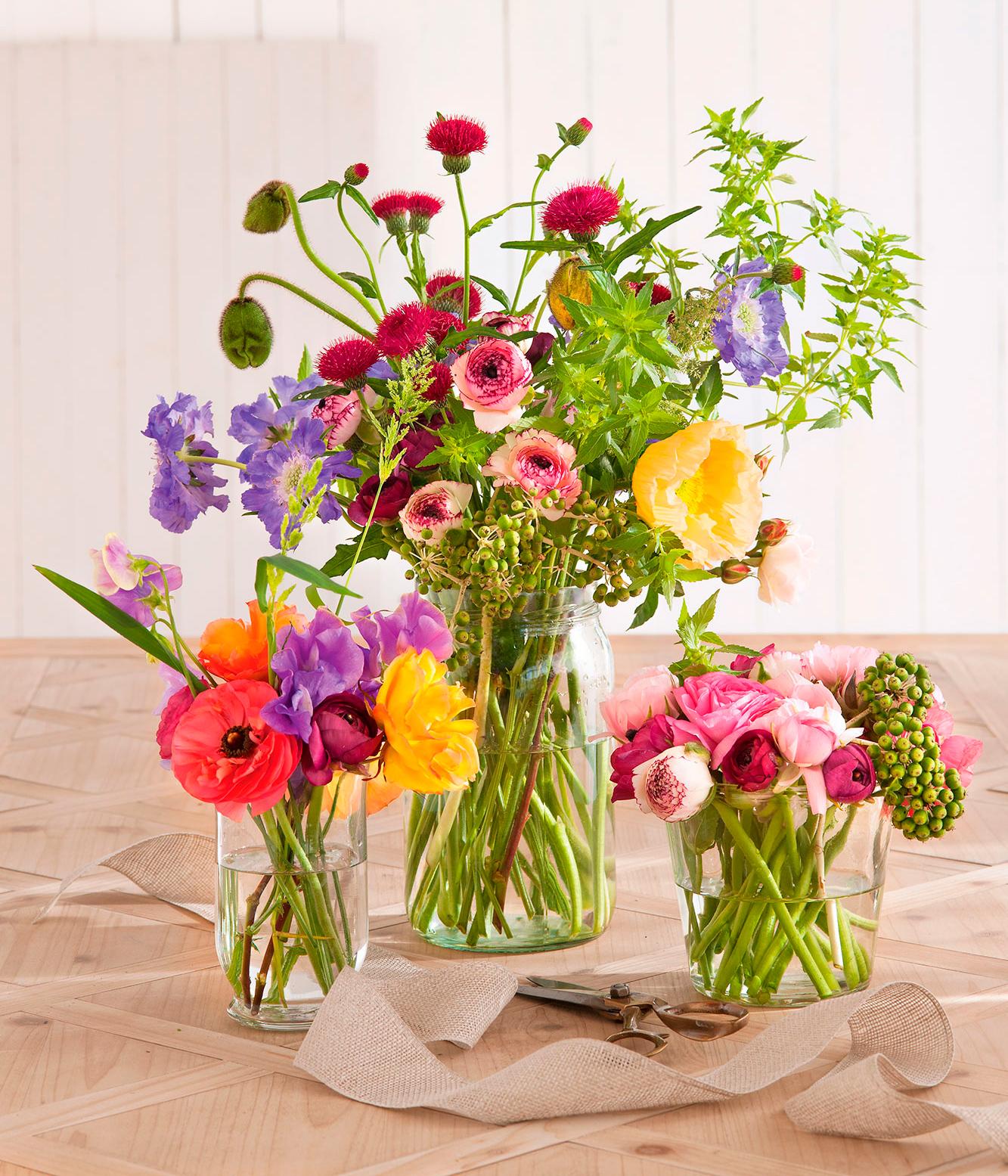 Flower power chale flores a tu casa - Jarrones de cristal con flores ...