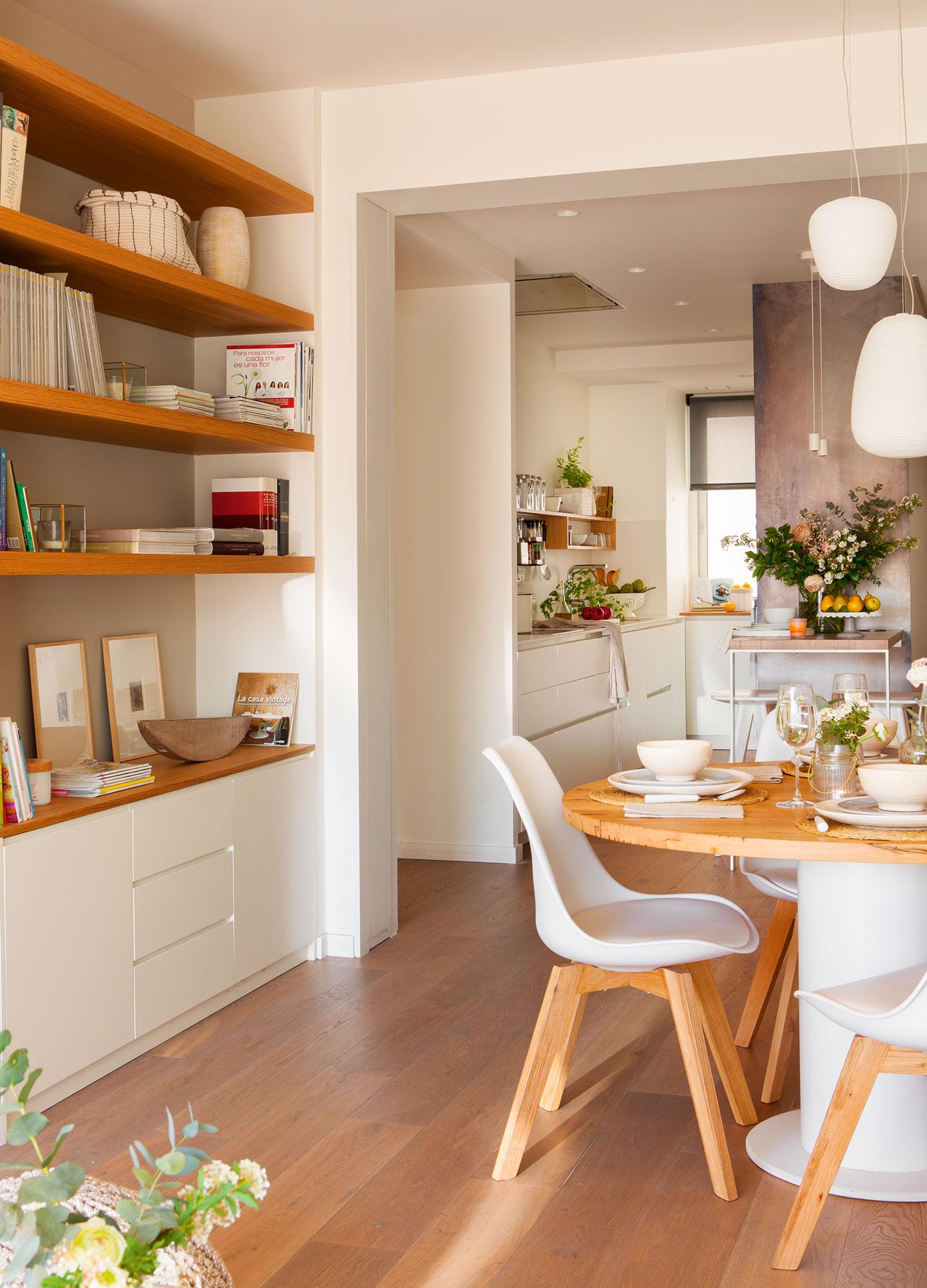 El piso de los mil metros for Salon comedor cocina mismo espacio