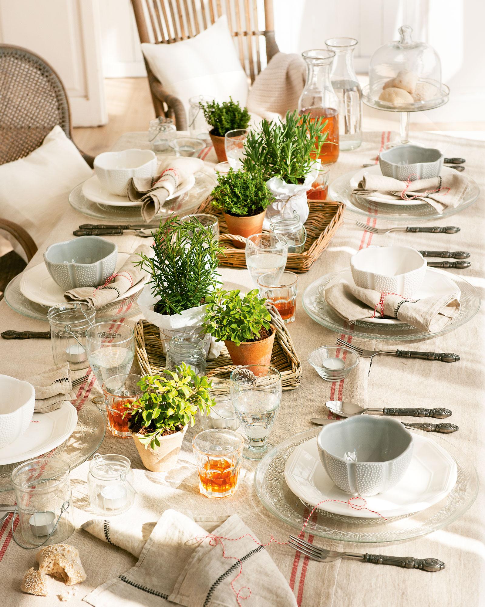 Cuatro mesas muy chic - Mantel para mesa exterior ...