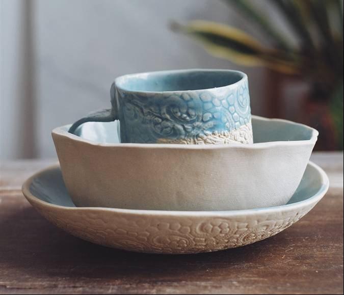 El taller de la ceramista nona bruna - Platos ceramica colores ...