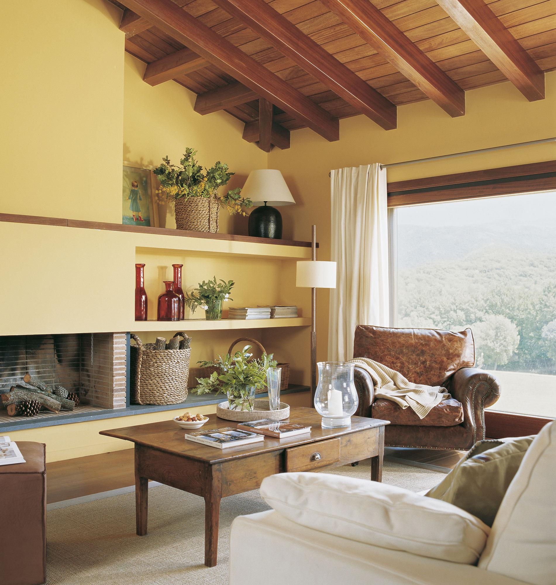 Pinturas para salones rusticos beautiful escalera con - Colores para pintar un salon rustico ...