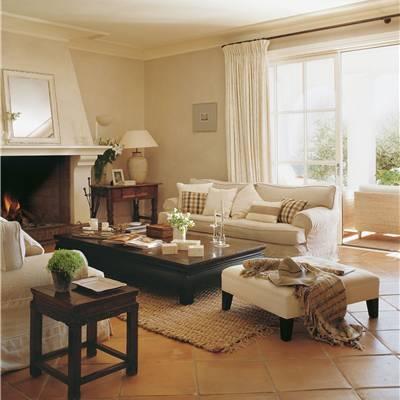 Salones - Como decorar un salon con chimenea ...