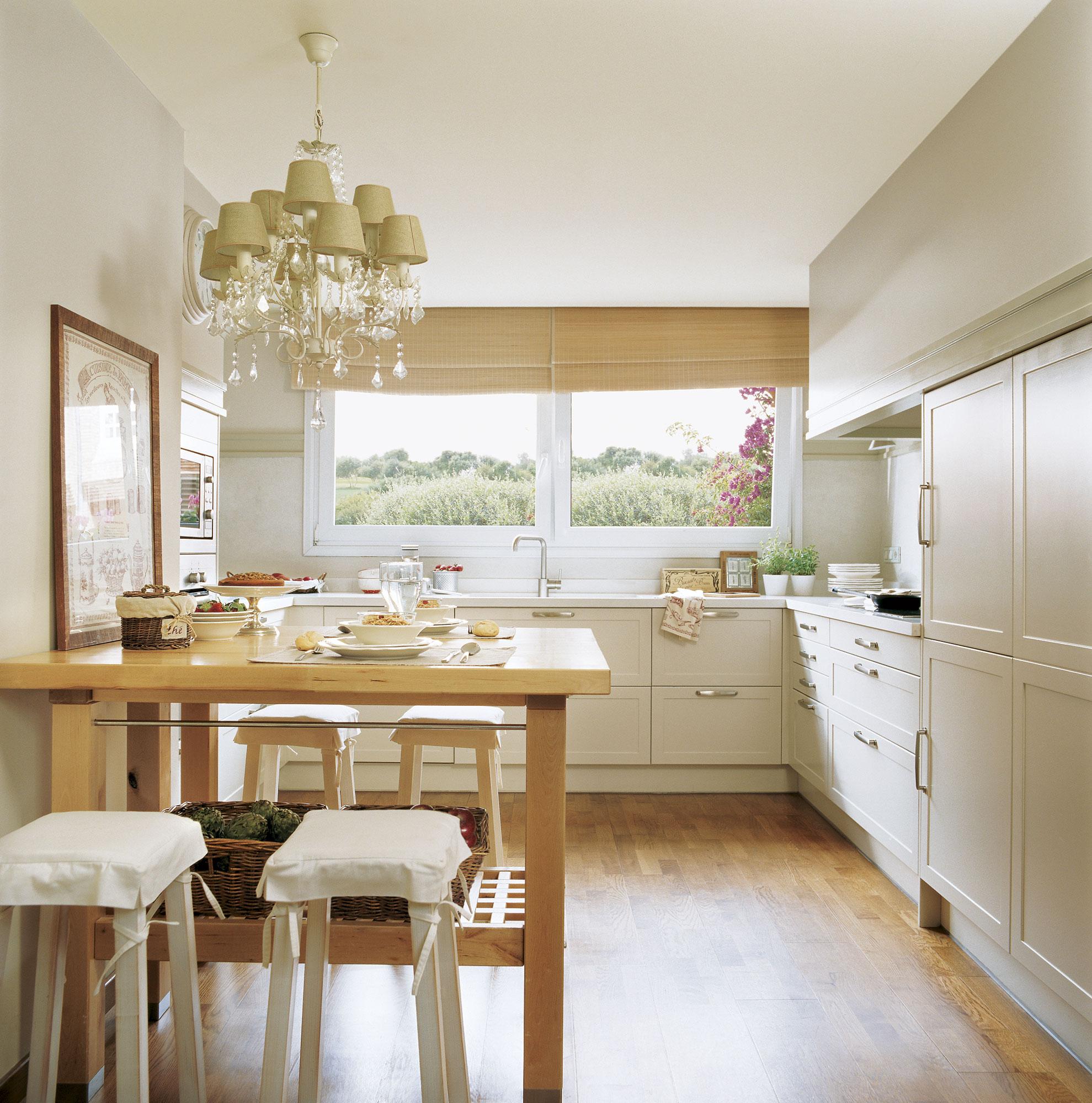 C mo tener un office en la cocina for Mesas para cocinas estrechas