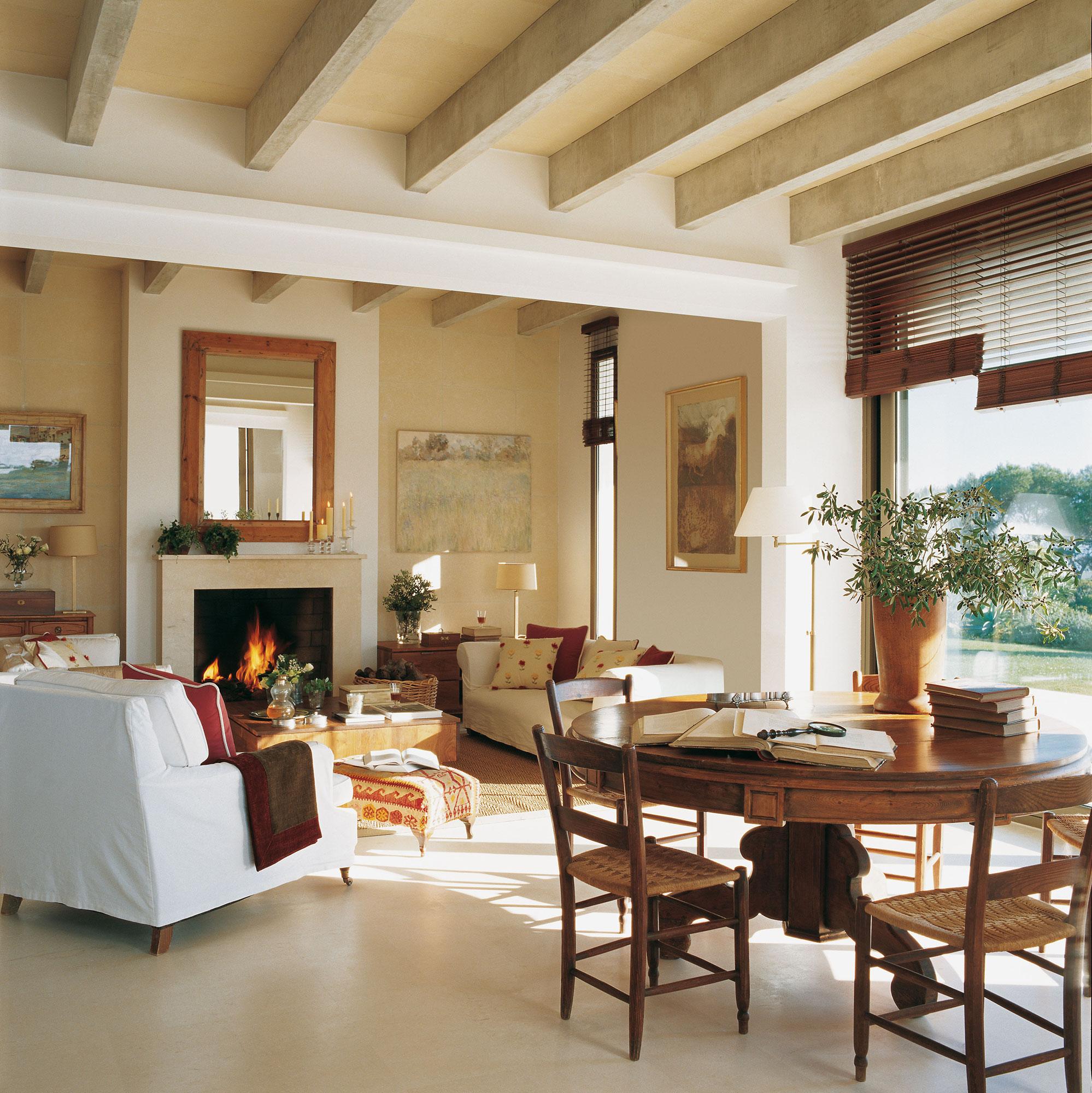 Salones con chimeneas modernas interesting chimeneas - Salones con chimenea ...