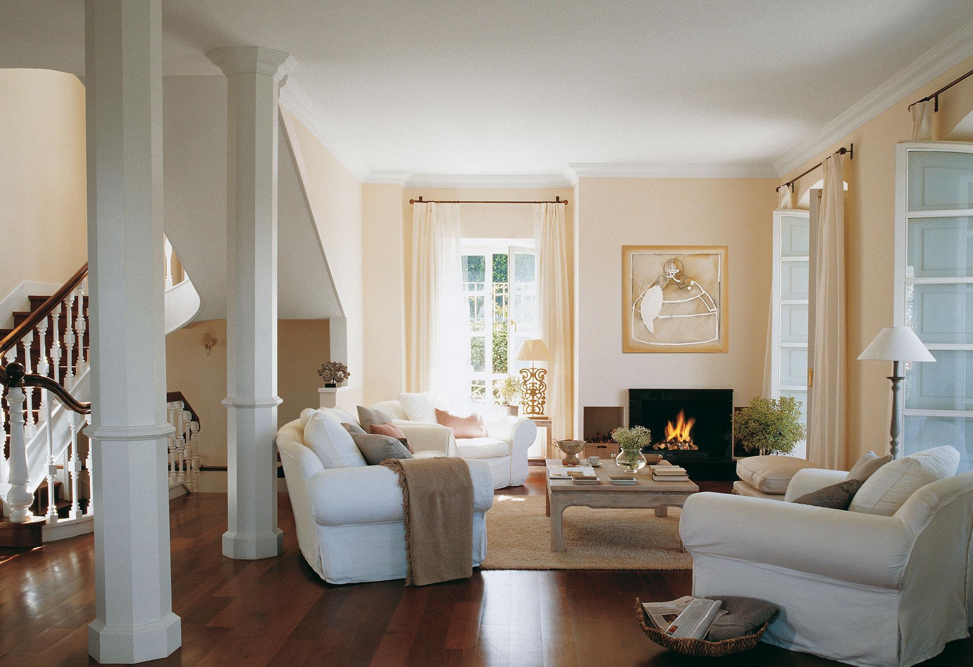 Los mejores 50 salones de el mueble for Como decorar pared salon