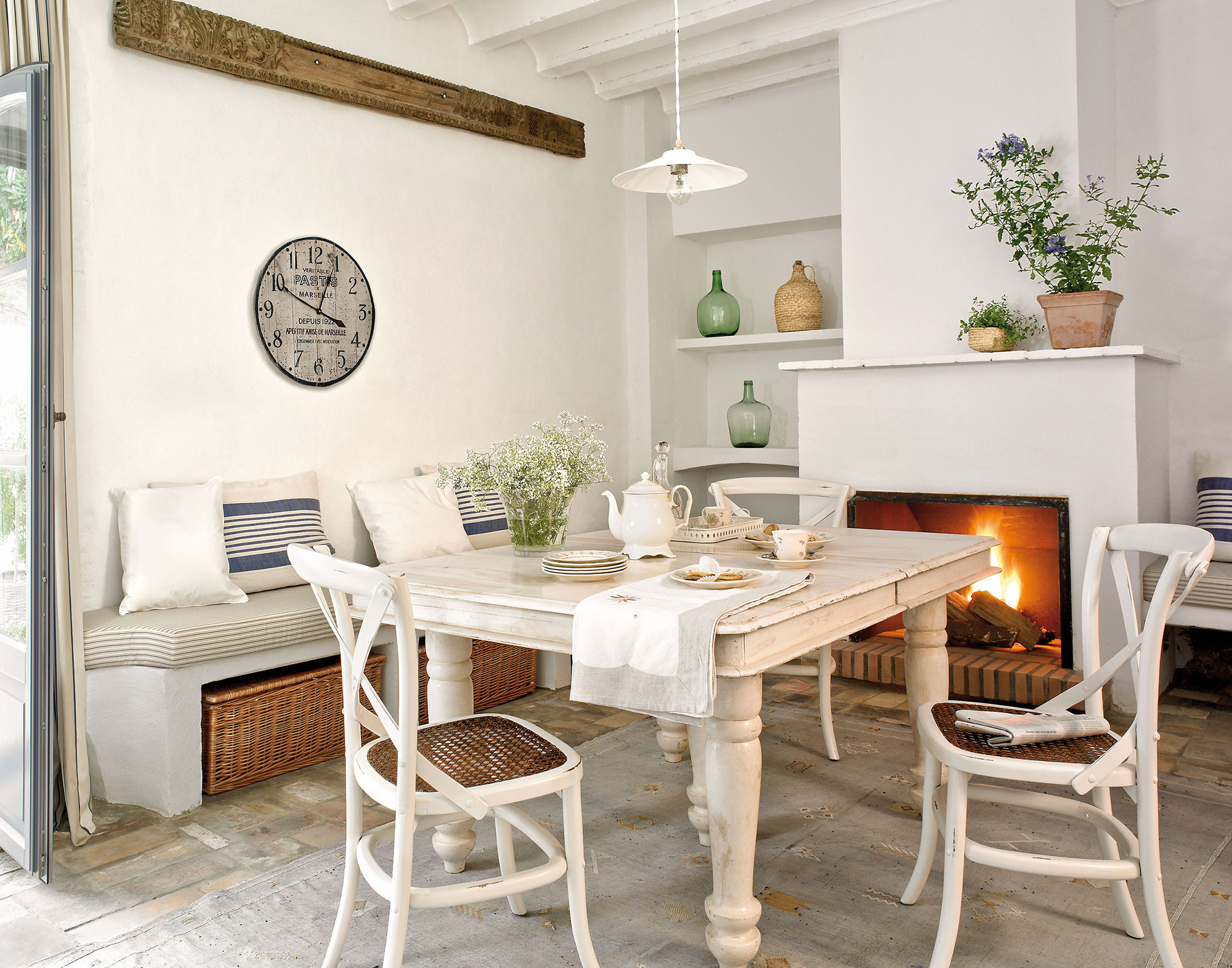 17 offices muy pr cticas para el d a a d a - Cocina rustica blanca ...