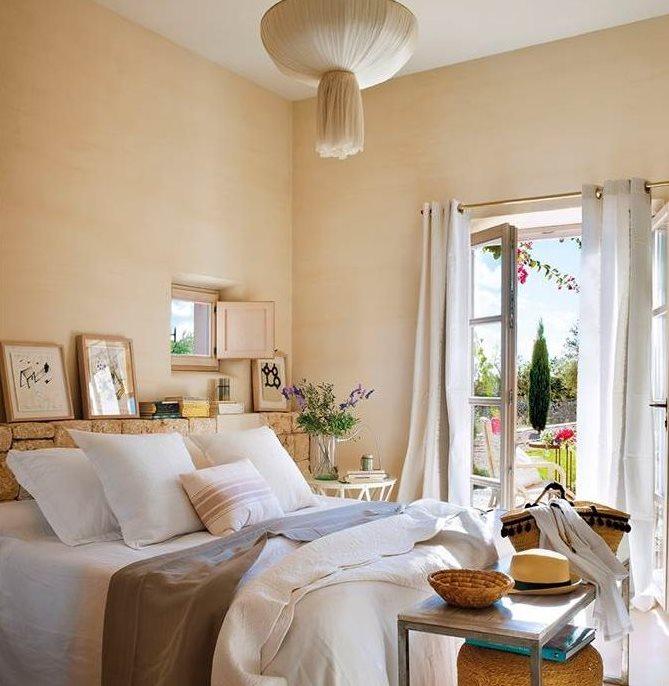 Ideas de cabeceros para dormitorios de todos los estilos - Como colocar piedra natural ...