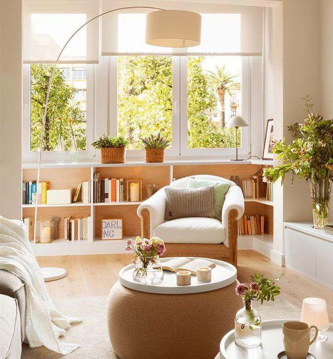 Salones peque os con ideas para ganar espacio for Muebles para salon pequeno