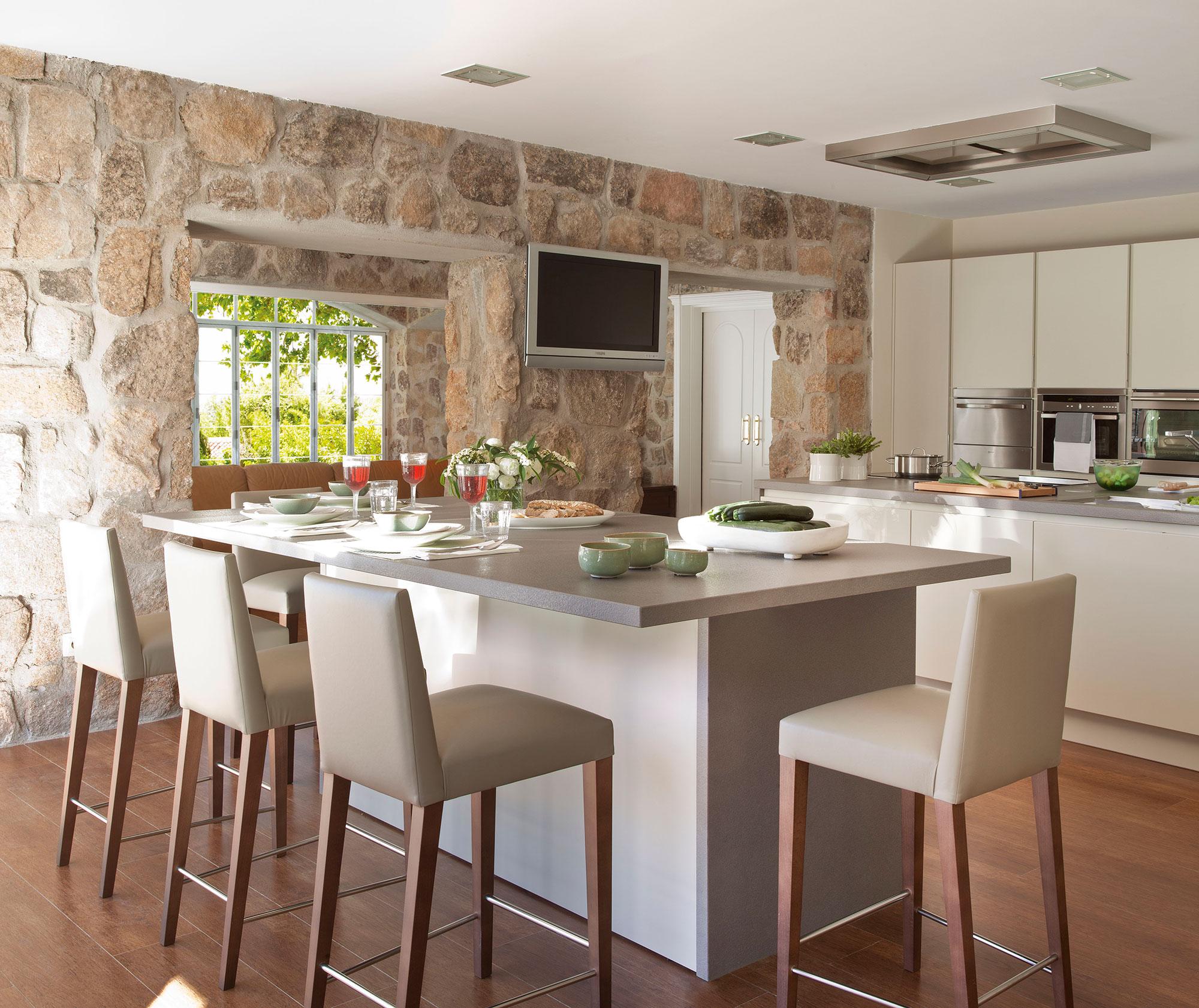 Barras para comedor simple sala comedor cocina espacios for Barras para cocina