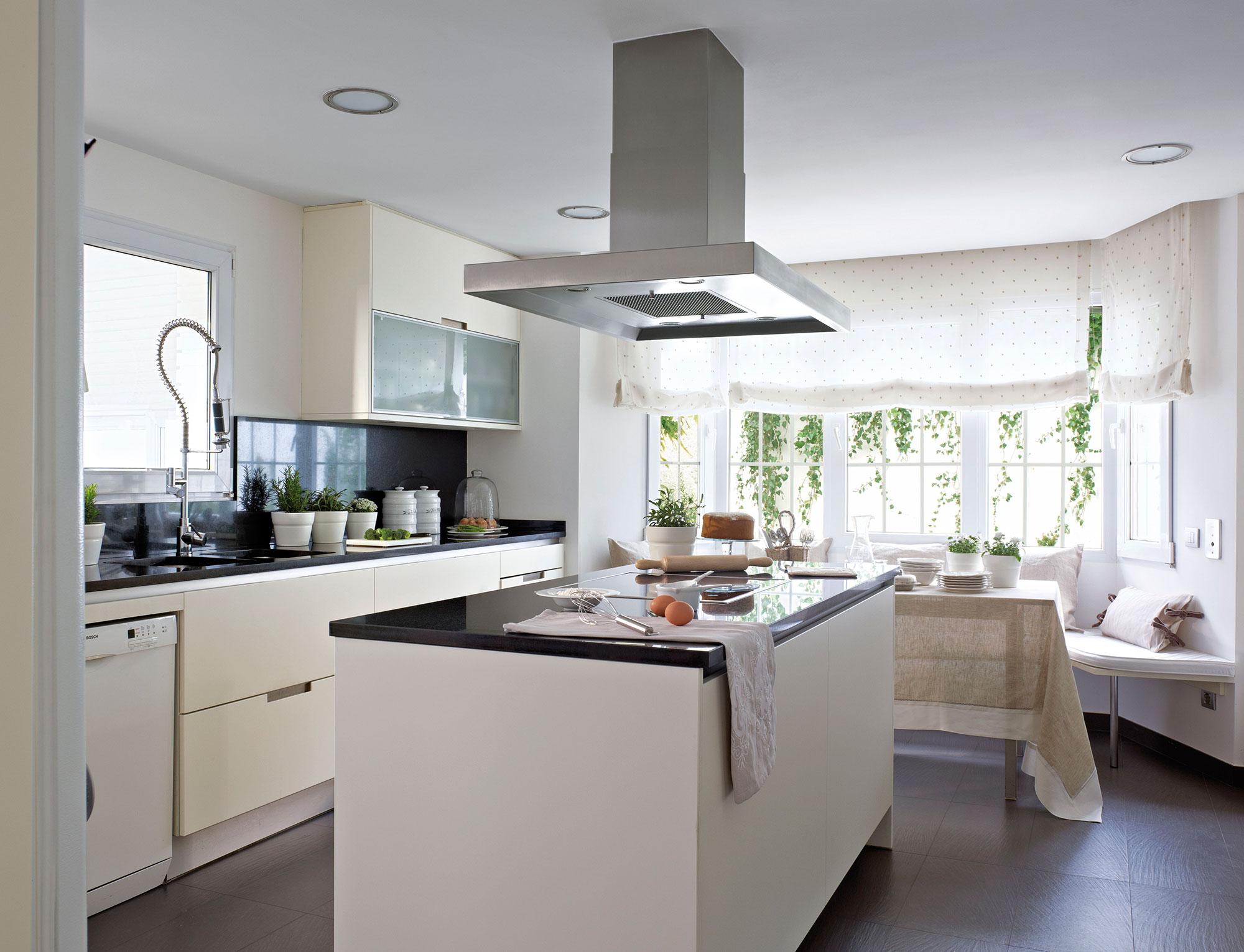 Cocinas blancas for Color credence cocina blanca