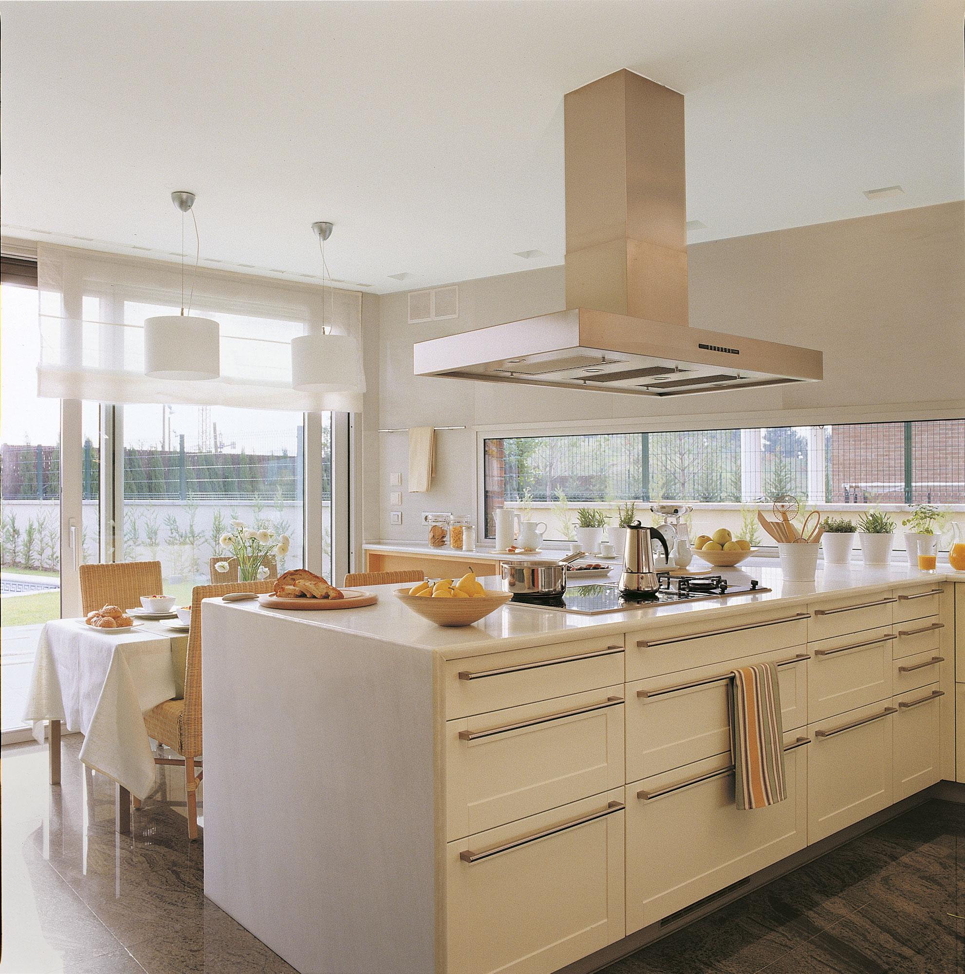 Cocinas blancas - Mueble encimera cocina ...