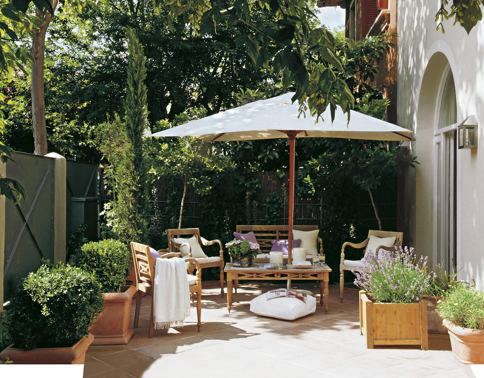 Un patio para disfrutar