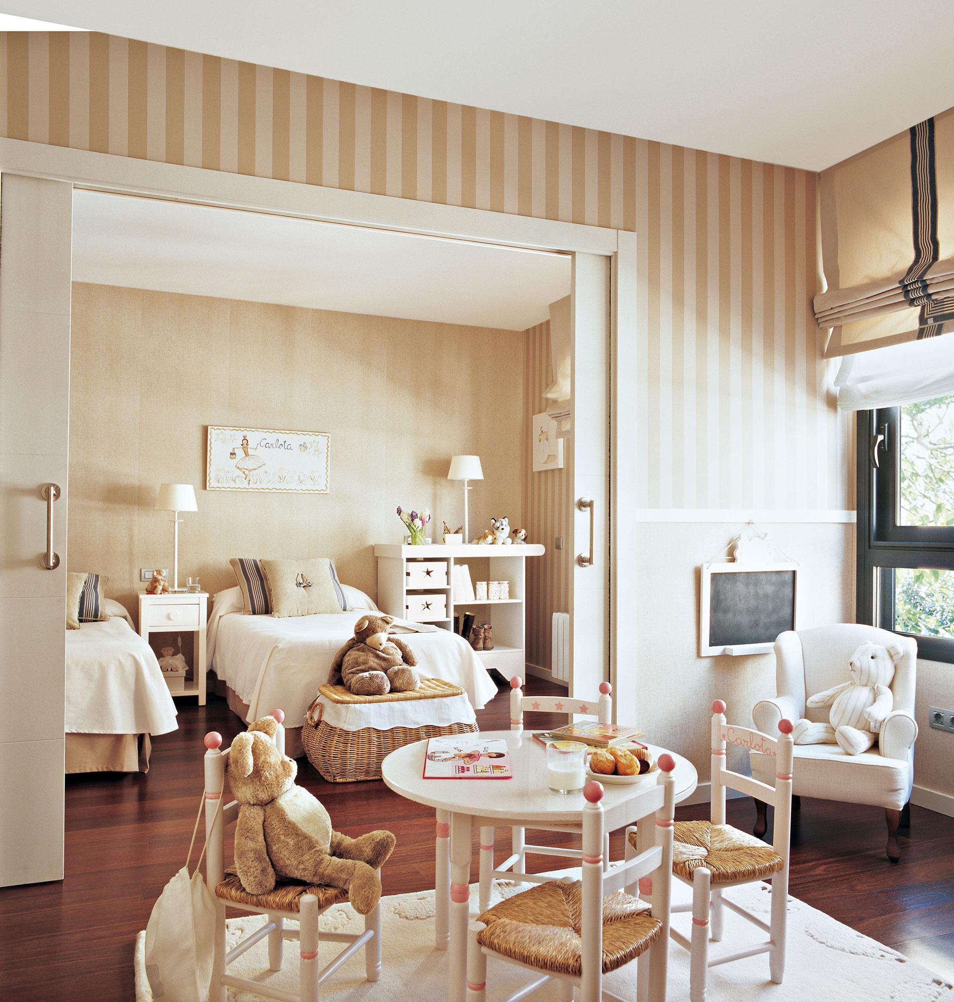 30 habitaciones para m s de dos ni os con buenas ideas - Dormitorio para dos ninos ...
