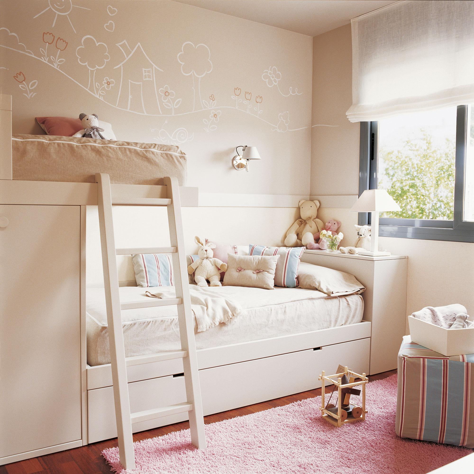 30 habitaciones para m s de dos ni os con buenas ideas - Dormitorio infantil literas ...