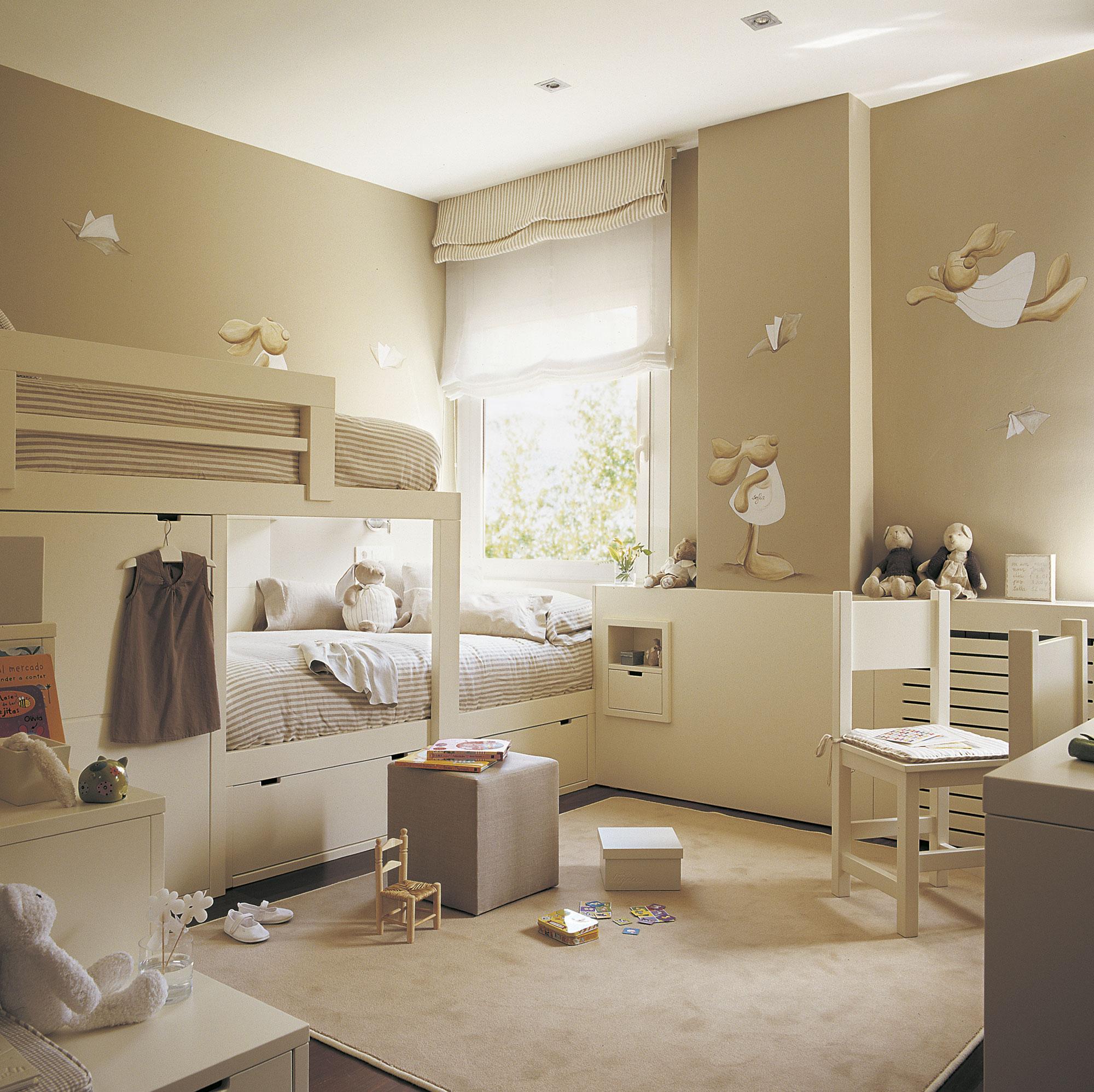 30 habitaciones para m s de dos ni os con buenas ideas - Dormitorios infantiles dobles ...