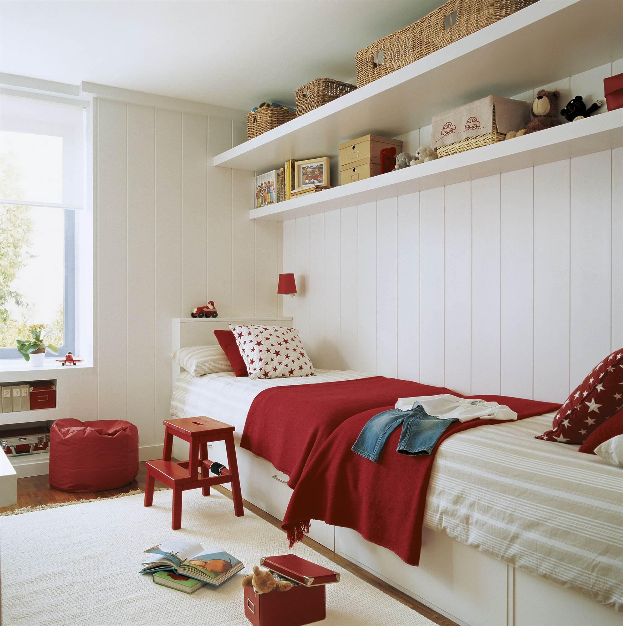 30 Habitaciones Para Mas De Dos Ninos Con Buenas Ideas - Habitaciones-infantiles-en-blanco