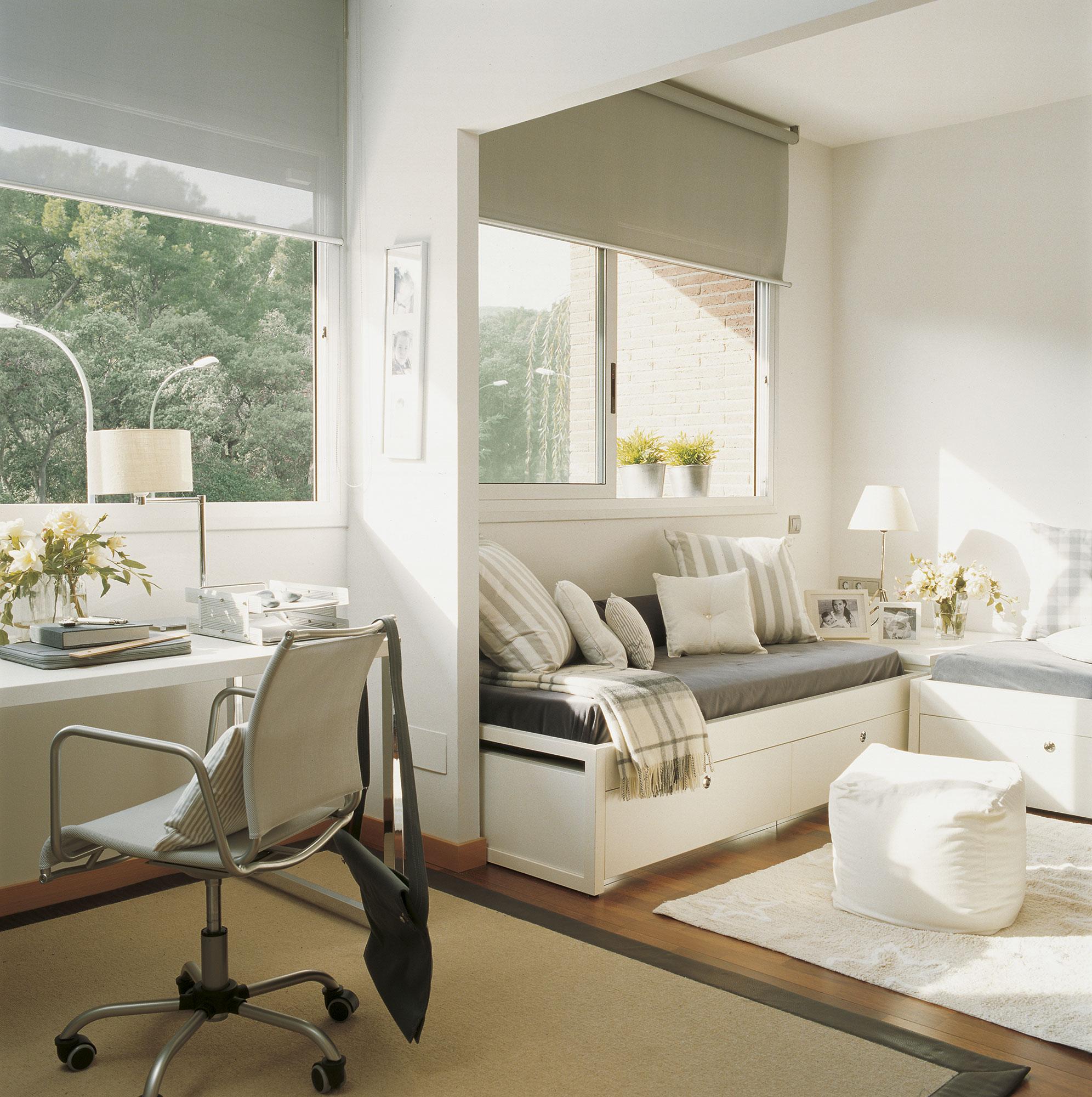 30 habitaciones para m s de dos ni os con buenas ideas for Sofa cama para habitacion juvenil