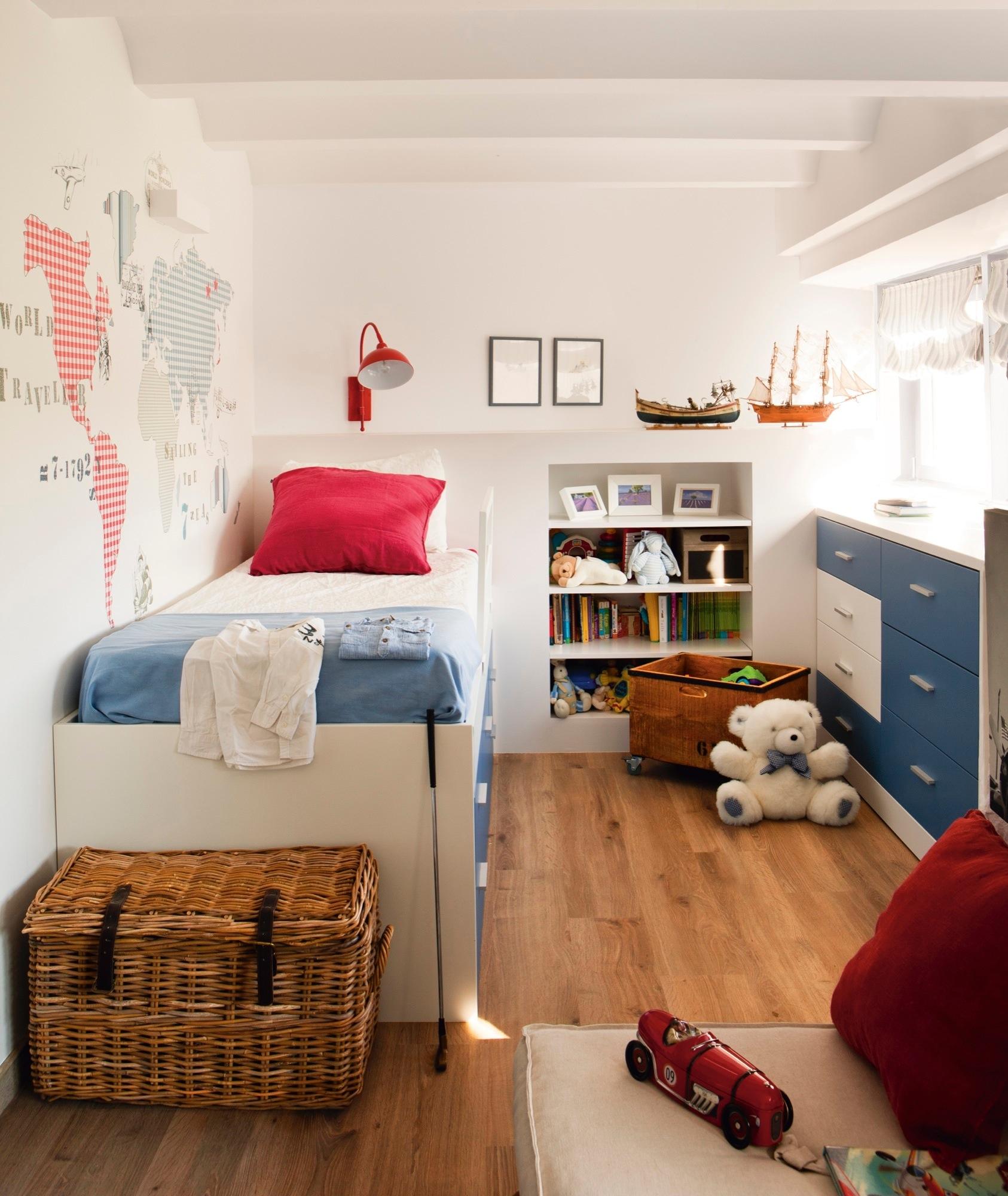 Dos pisos contiguos crearon un d plex de vacaciones en la - Papel pintado para dormitorio juvenil ...