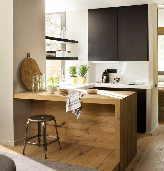 C mo aprovechar el espacio en cocinas peque as - Cocinas pequenas y economicas ...