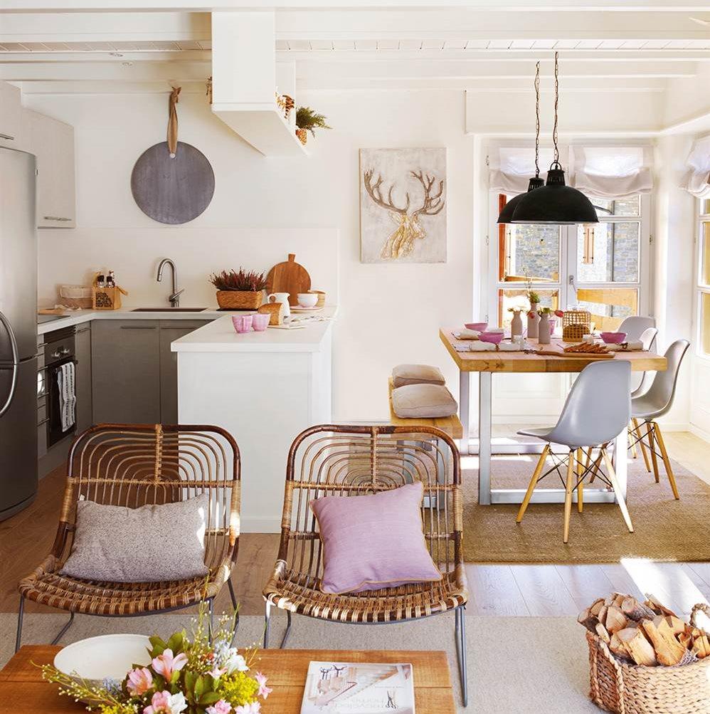 Claves para abrir la cocina al comedor o el sal n y ganar for Cocina comedor salon