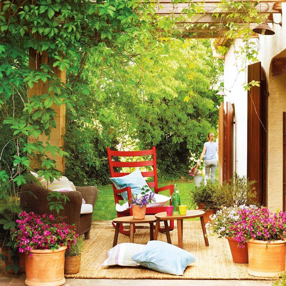 Piensa en verde una decoraci n m s natural for Porche pequeno