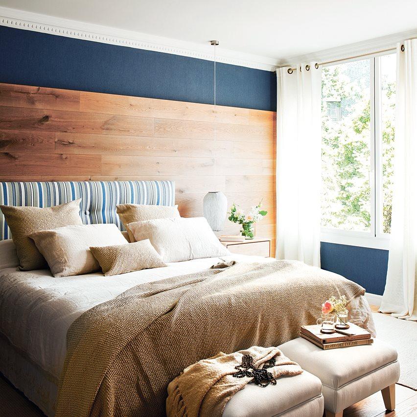 Qu color sienta mejor a tu casa for Dormitorio blanco y madera