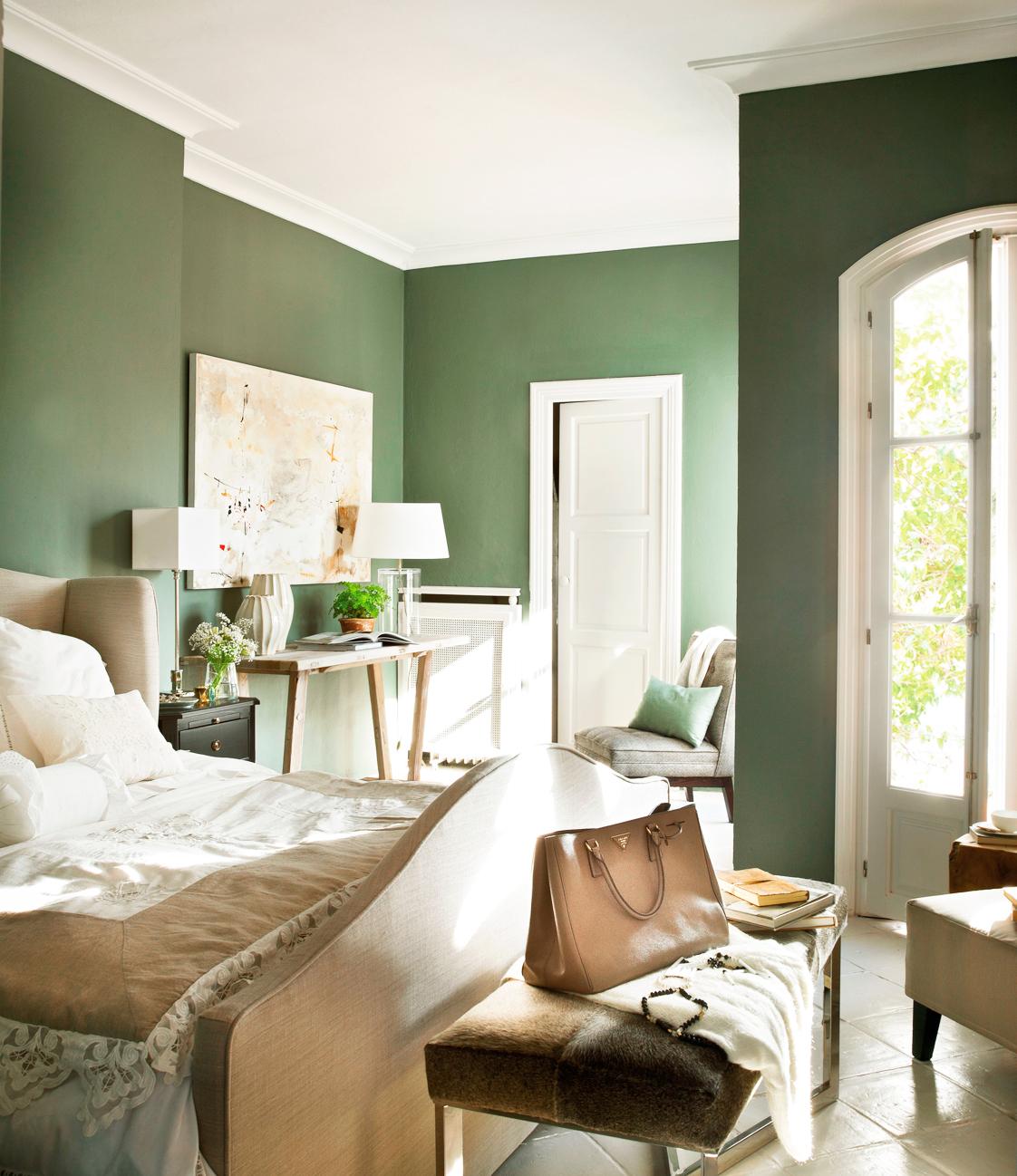 C mo elegir el color para tu casa - Dormitorio verde ...