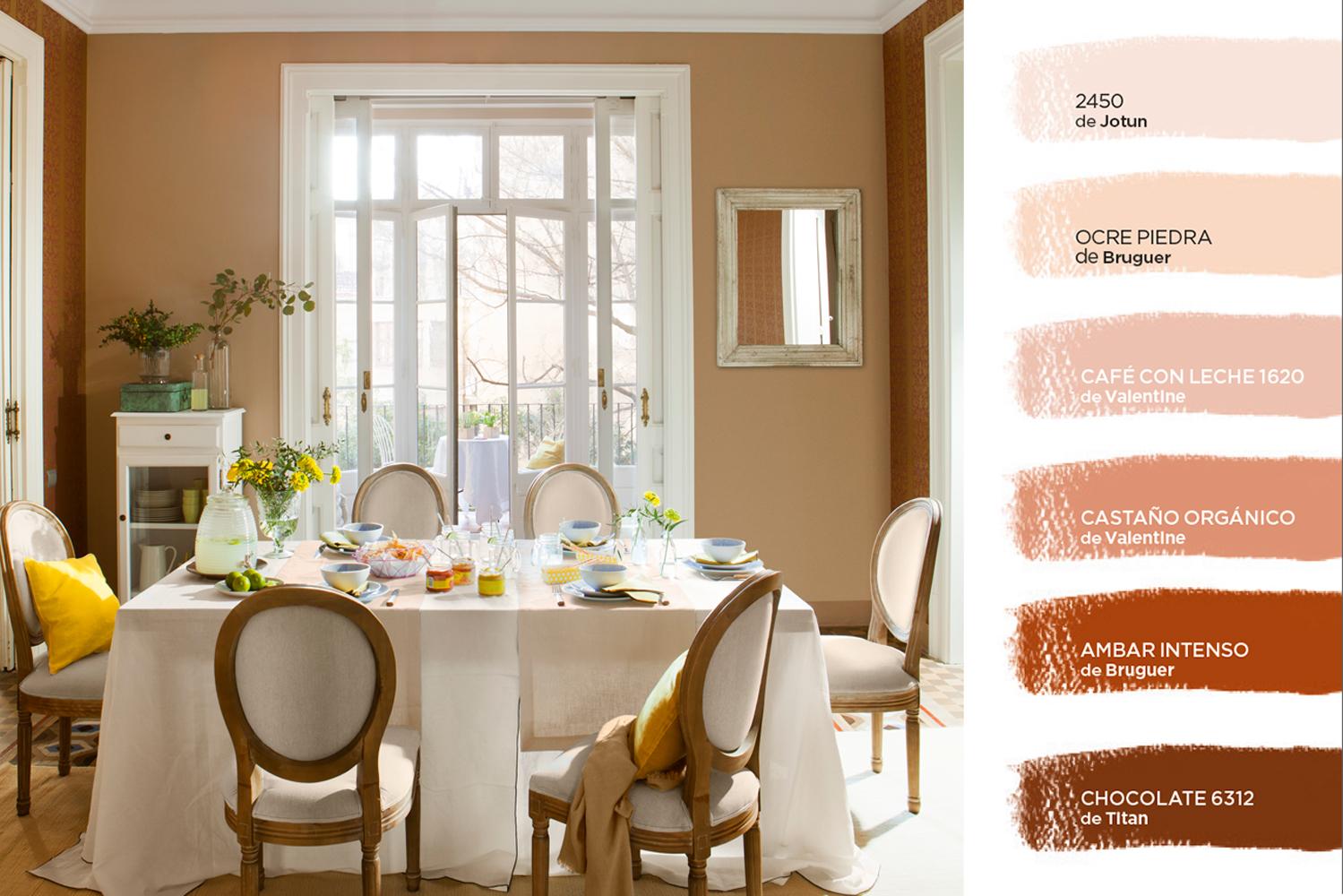 C mo elegir el color para tu casa - Muebles marron oscuro color pared ...