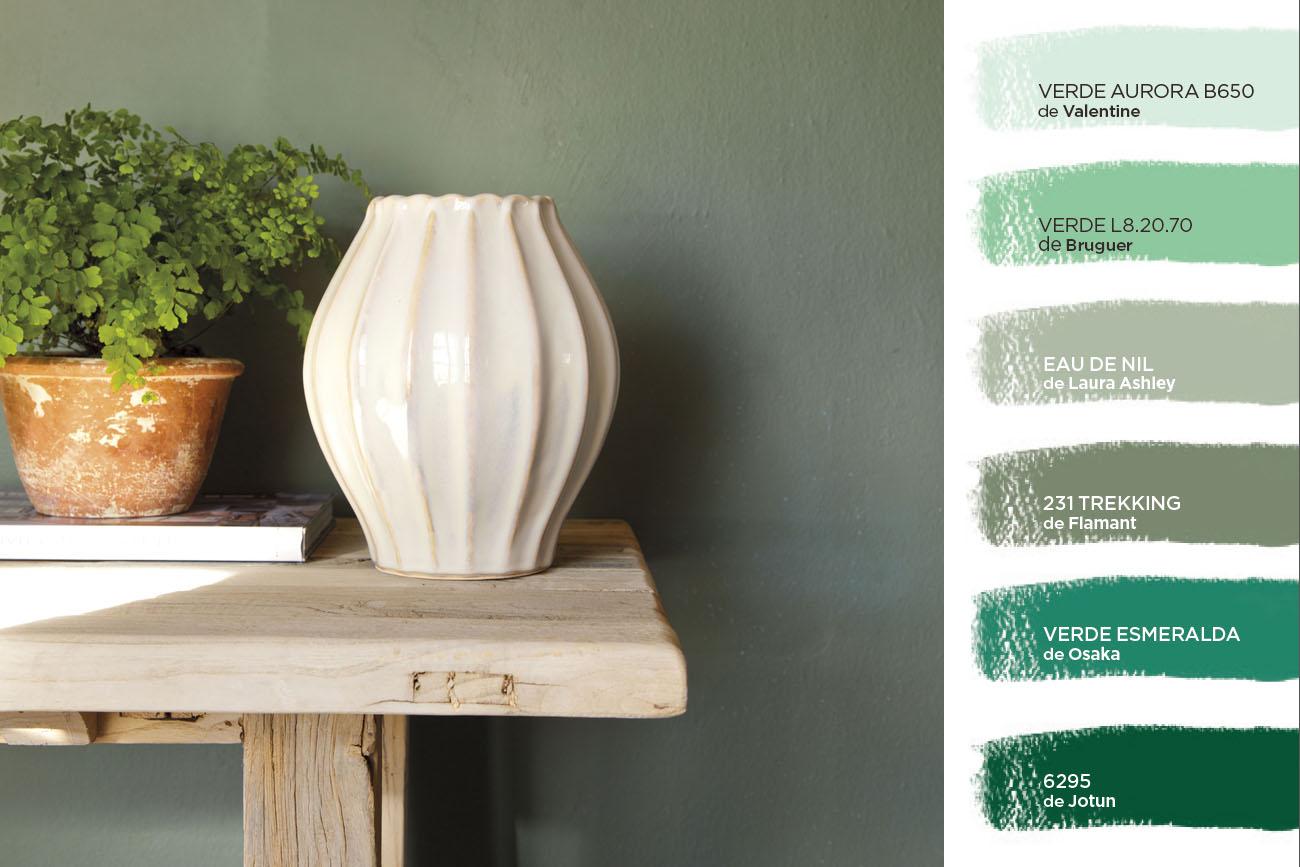 C mo elegir el color para tu casa - Gama de verdes ...