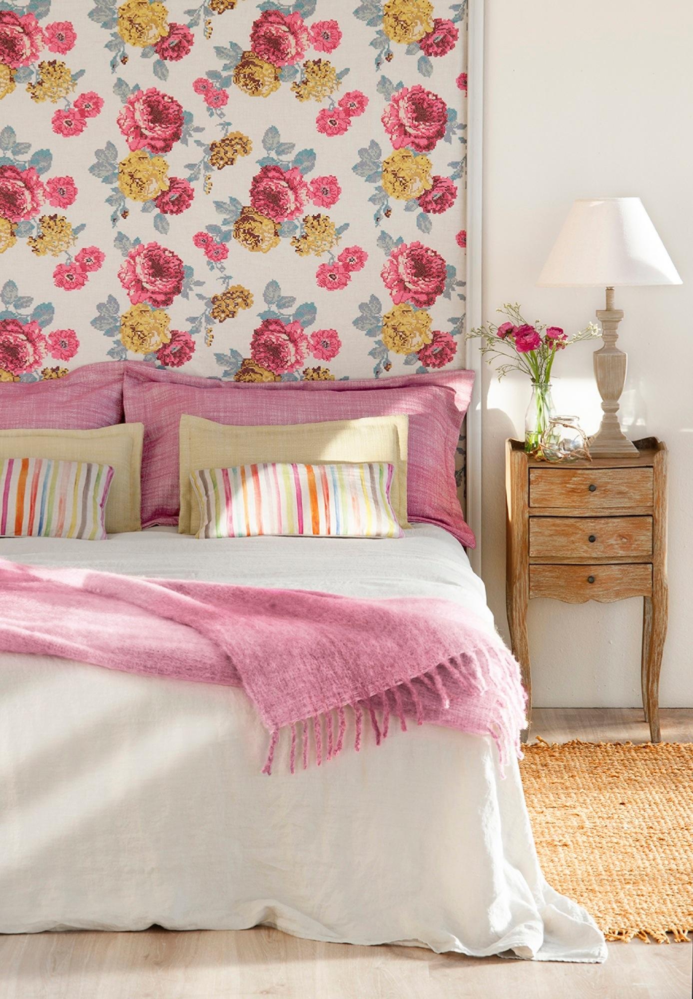 4 ideas f ciles y low cost para personalizar tu cabecero - Cojines para cabeceros de cama ...