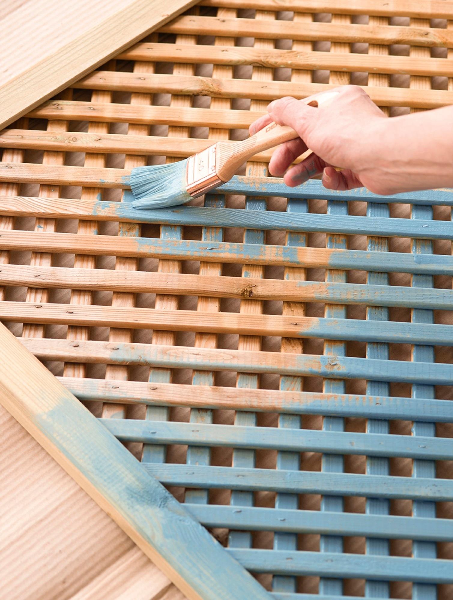 4 ideas f ciles y low cost para personalizar tu cabecero for Celosia madera ikea