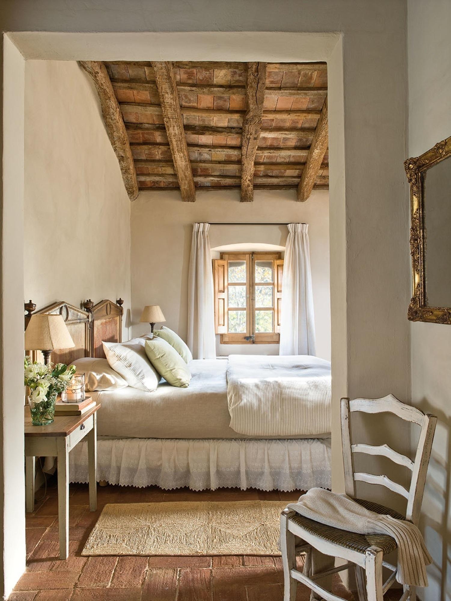 Dormitorios r sticos con mucho encanto - Lamparas estilo rustico ...