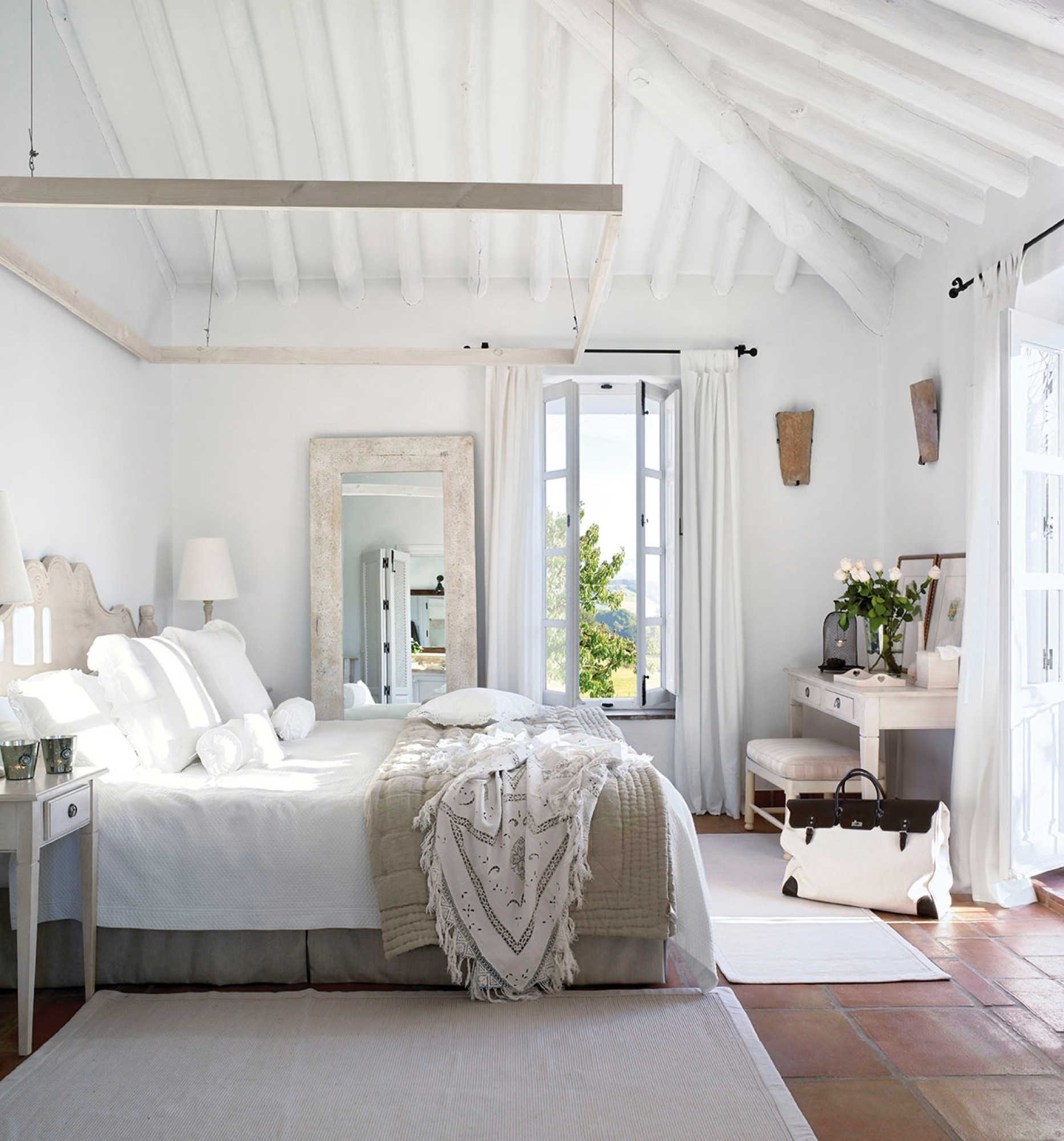 20 Dormitorios R Sticos Con Mucho Encanto ~ Habitacion De Matrimonio Blanca