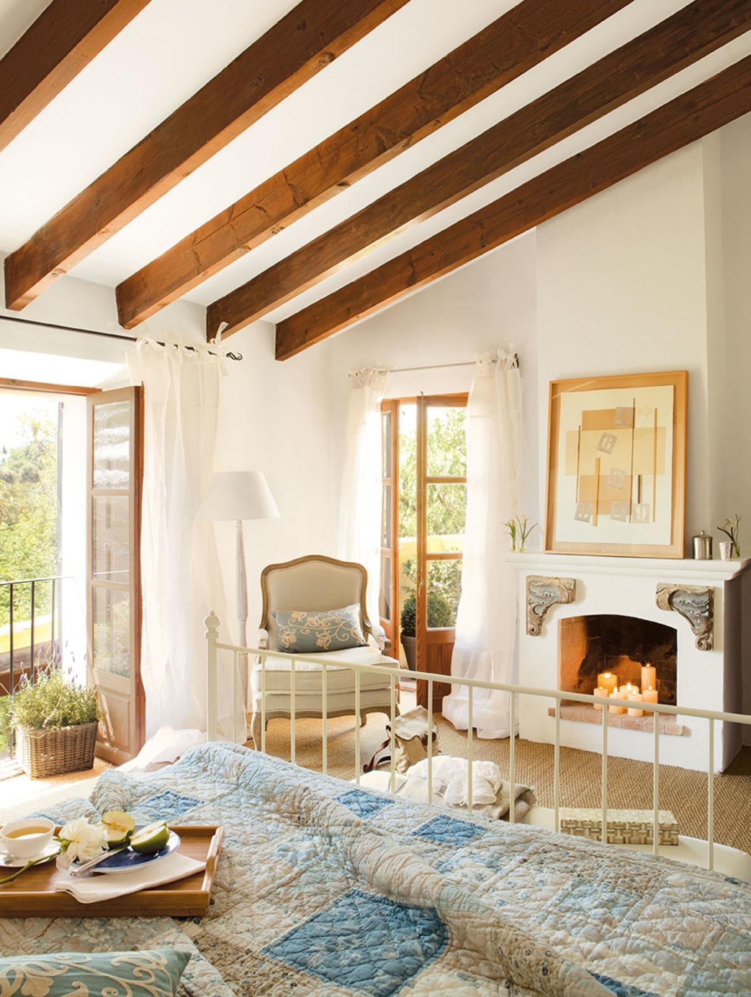 Dormitorios r sticos con mucho encanto - Casas decoradas con ikea ...