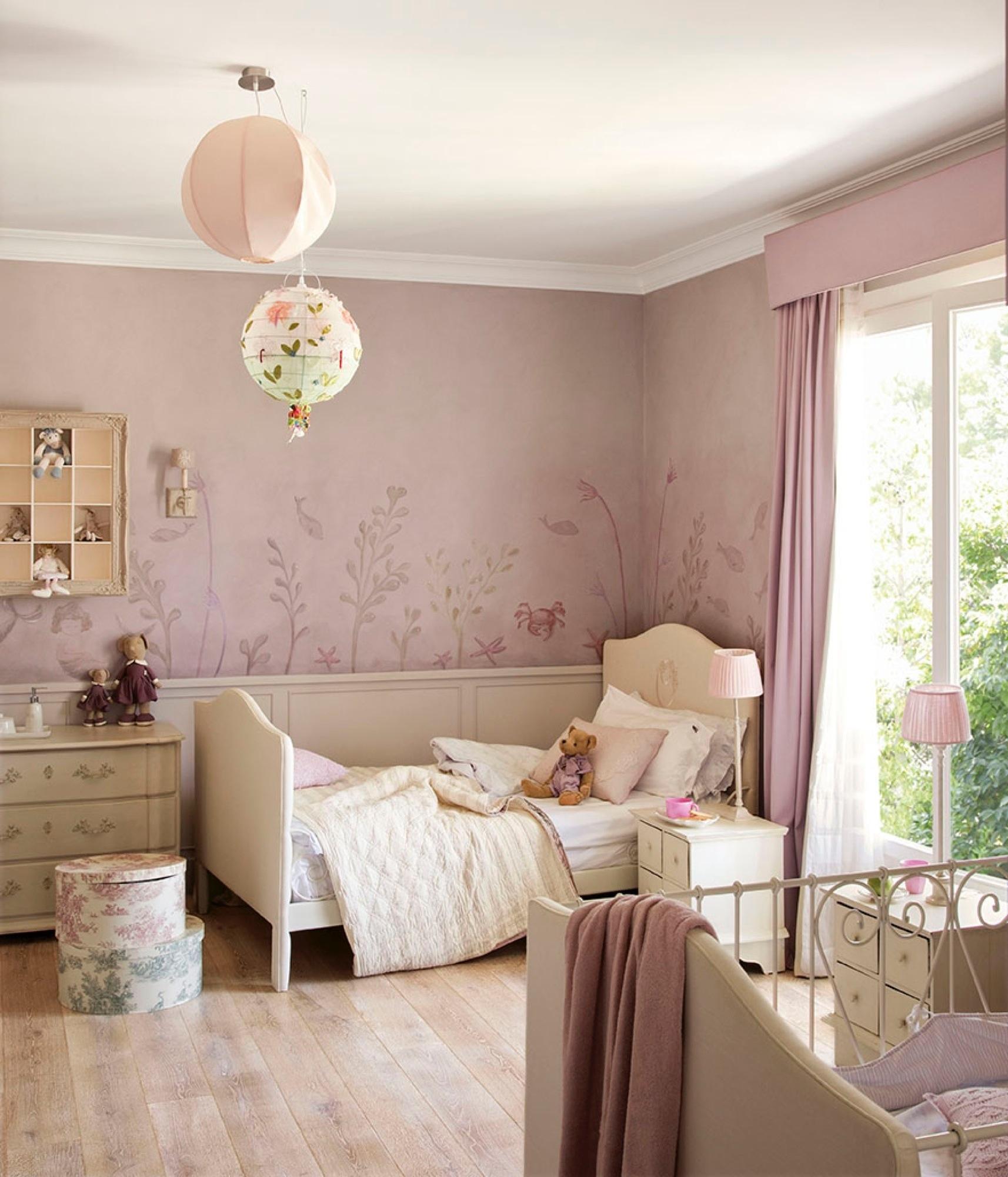 12 habitaciones para ni as princesas - Dormitorio malva ...