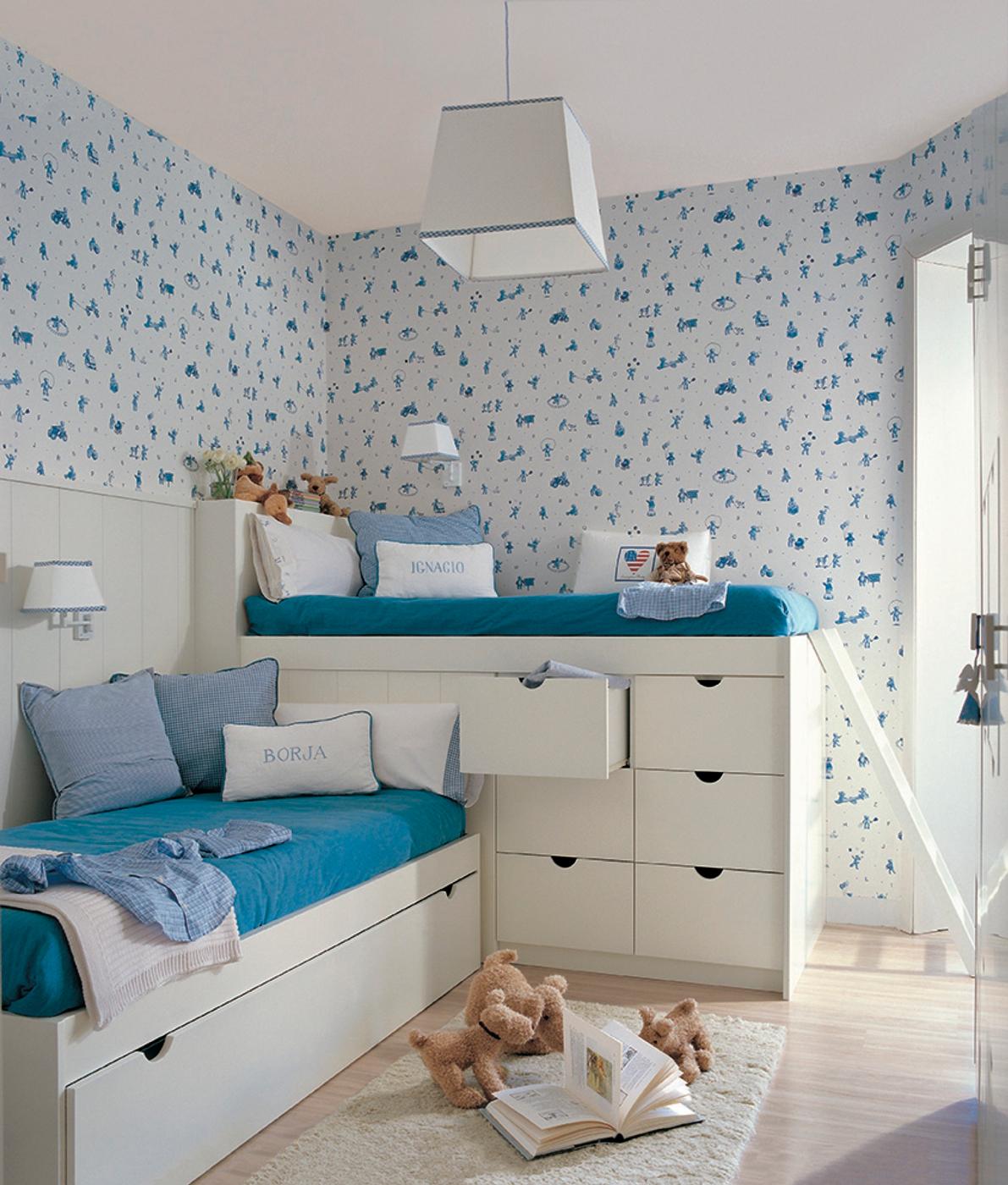 Papel pintado en dormitorios excellent ideas para decorar for Dormitorios empapelados y pintados