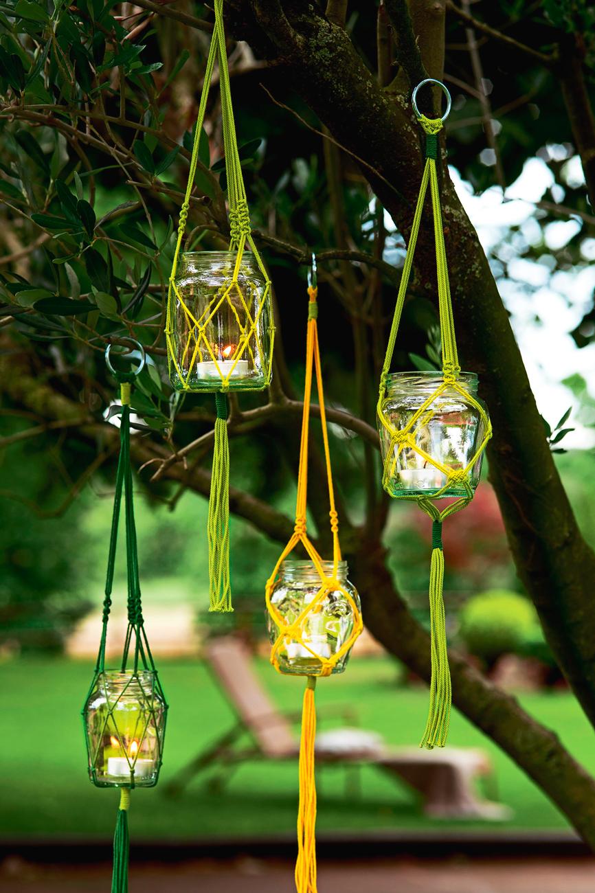 Aprende a hacer farolillos con macram para noches m gicas for Decoracion exterior jardin contemporaneo
