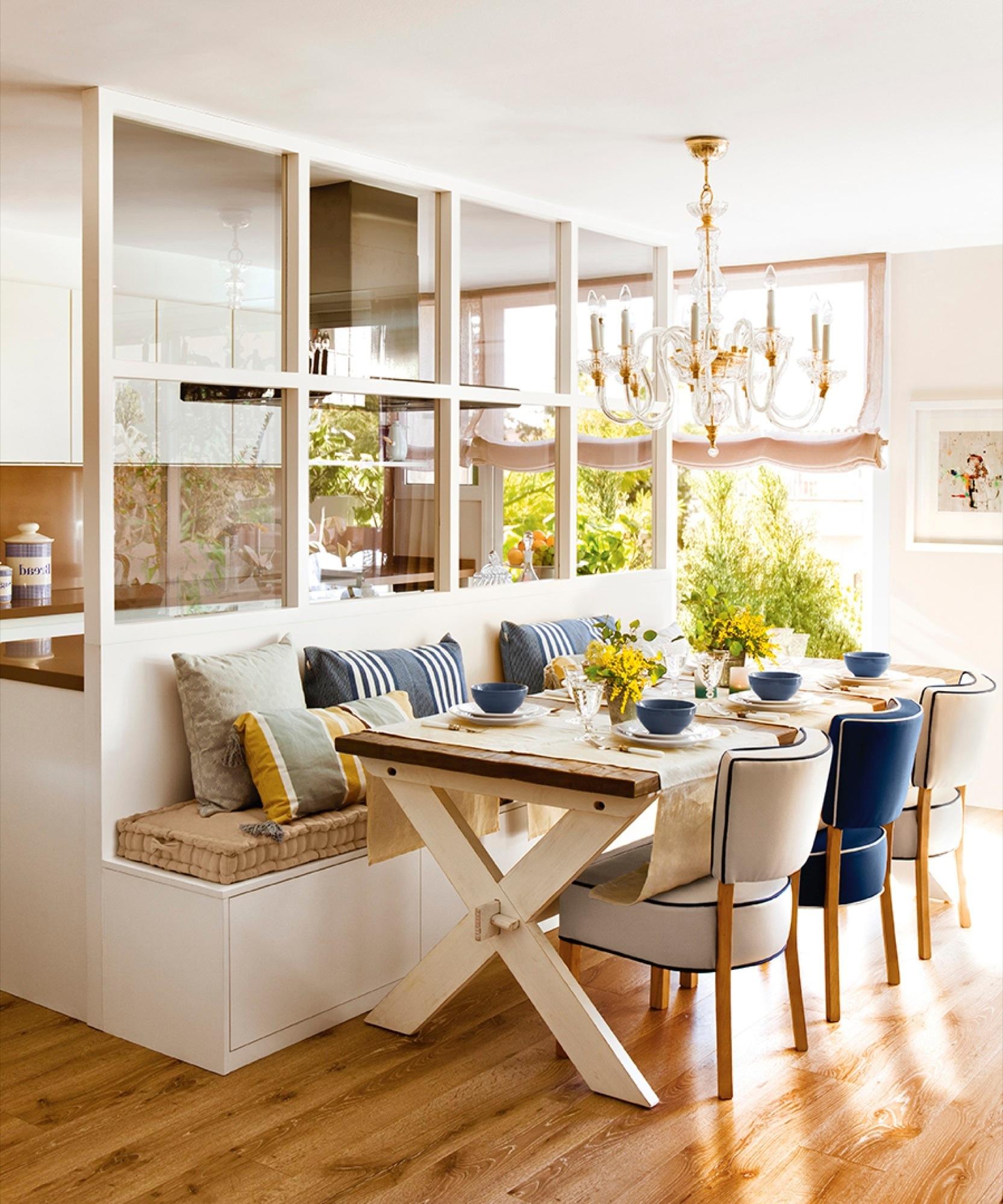 Las mejores ideas deco de esta temporada for Cocina blanca y madera moderna
