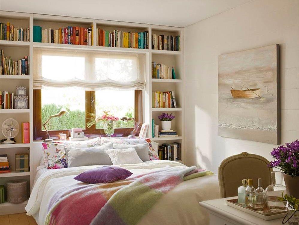 10 ideas para aprovechar el hueco bajo la ventana - Aprovechar espacio dormitorio ...