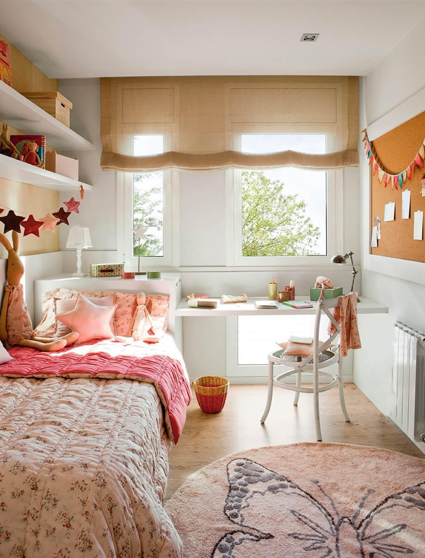 10 ideas para aprovechar el hueco bajo la ventana - Decoracion habitacion individual ...
