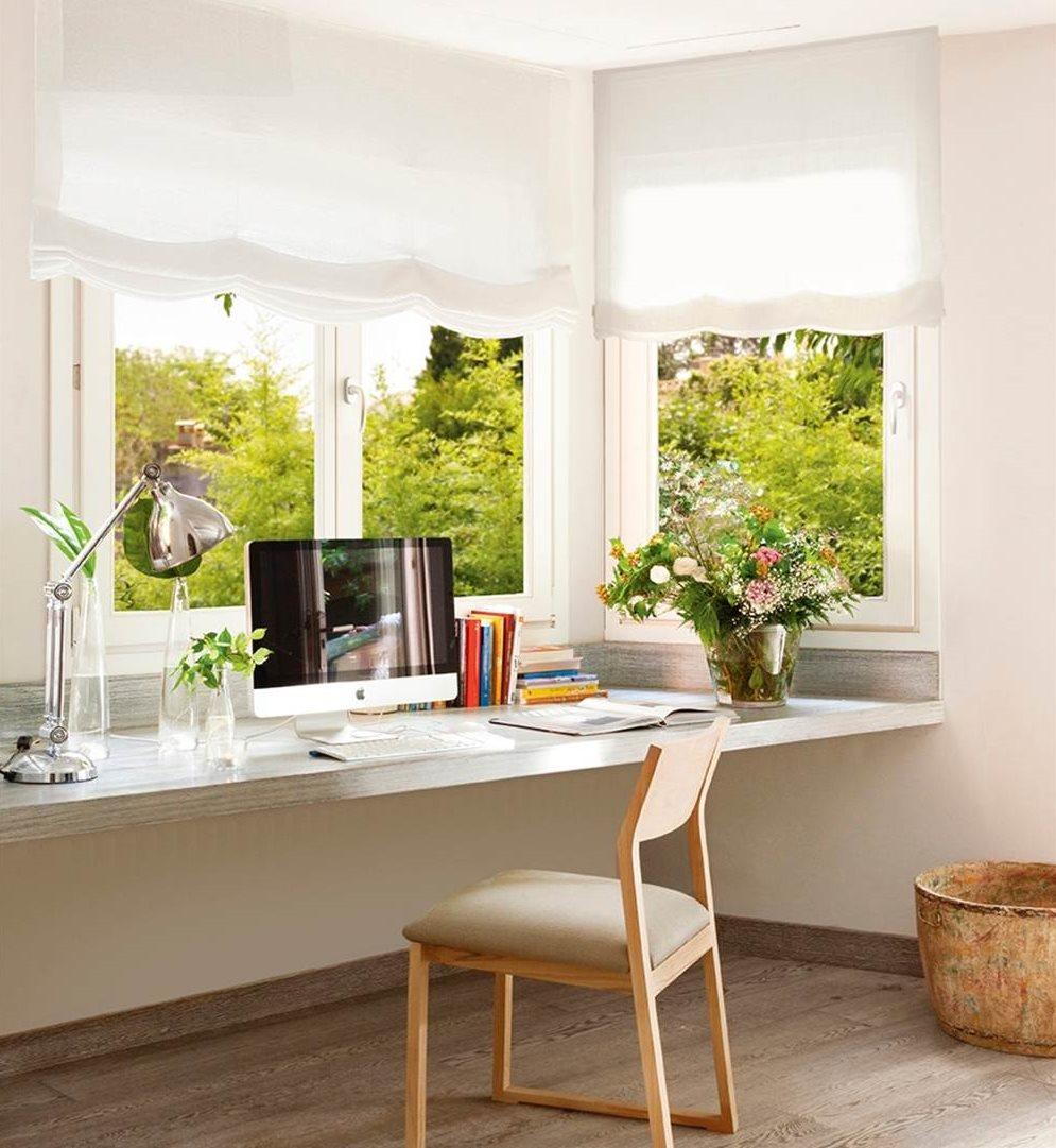 10 ideas para aprovechar el hueco bajo la ventana for Como hacer un despacho en casa
