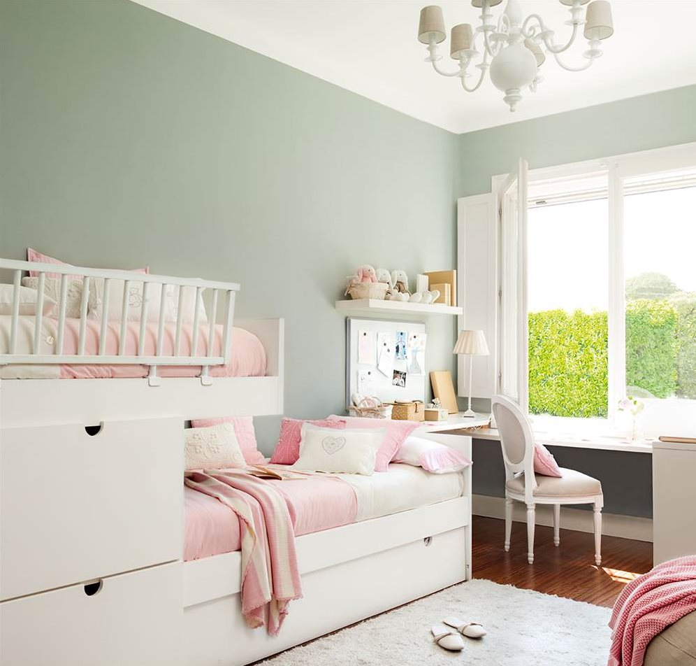 10 habitaciones de ni os con orden - Dormitorio verde ...