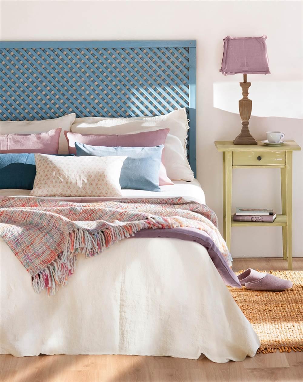 4 ideas f ciles y low cost para personalizar tu cabecero - Como hacer un cabecero de cama economico ...