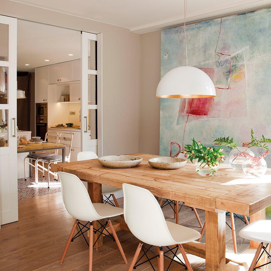 La reforma de un piso para ganar luz for Colores para cocina comedor
