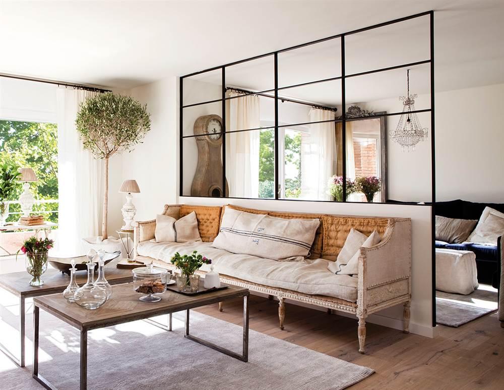 Trucos e ideas para ganar luz y espacio - Cocina salon separados cristal ...