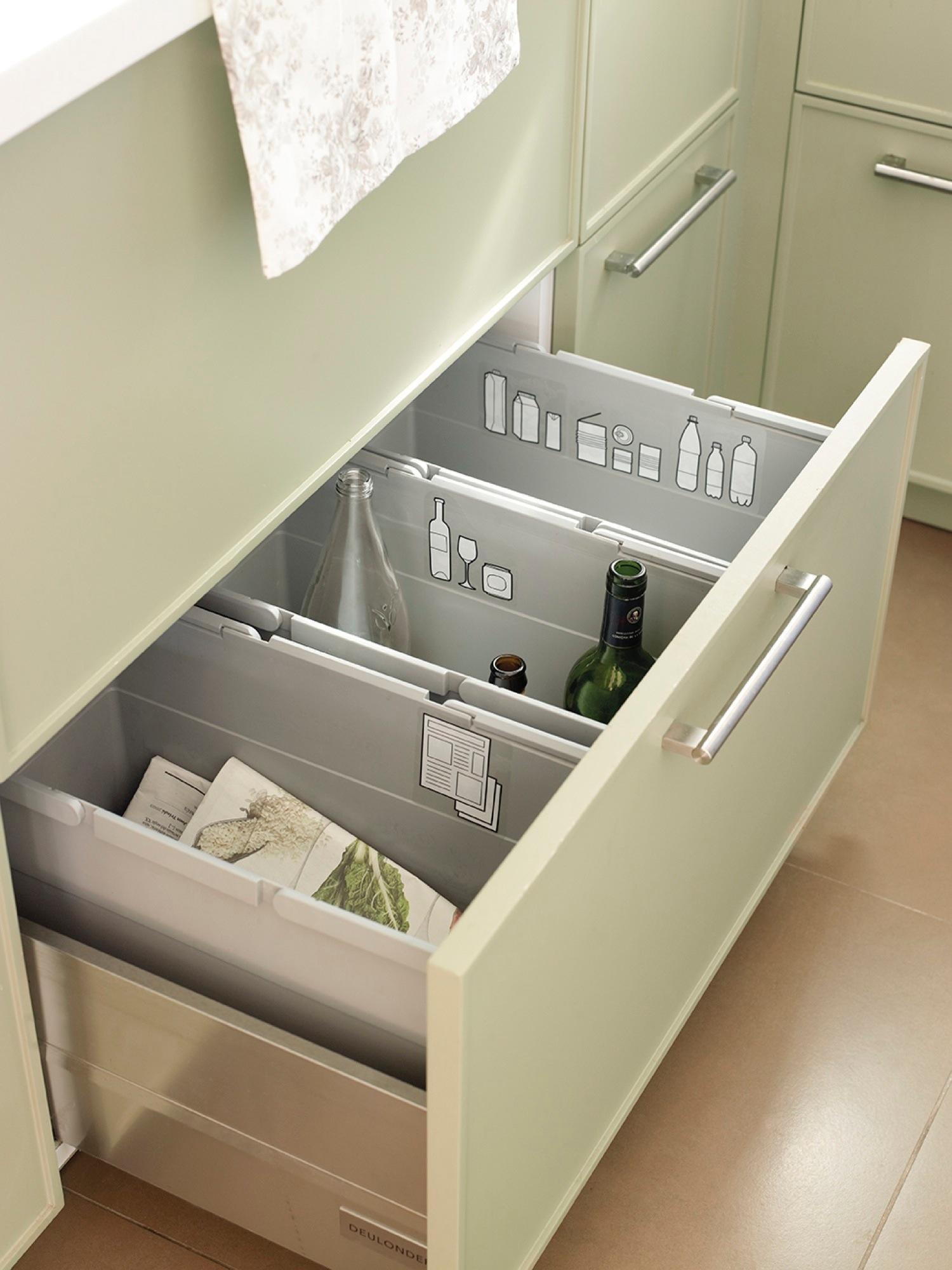 Orden en la cocina consejos y trucos para guardarlo todo - Interiores de cajones de cocina ...