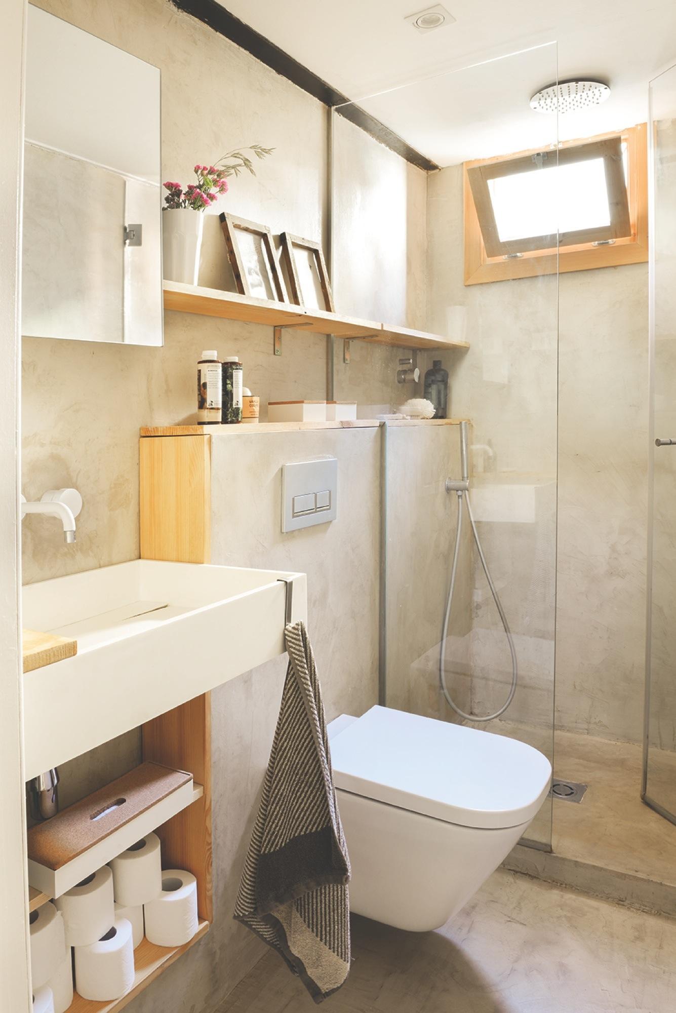 Baño Pequeno Microcemento:Mesas de centro de diferentes alturas y colores diseñadas por Neus